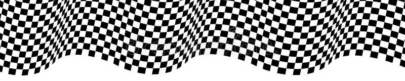 Onda quadriculado da bandeira no projeto branco para o vetor do fundo do campeonato da raça do esporte ilustração stock