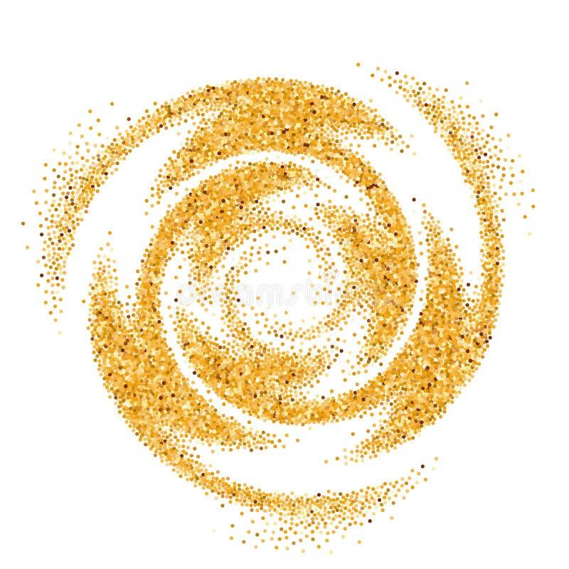 Onda que brilla del oro ilustración del vector