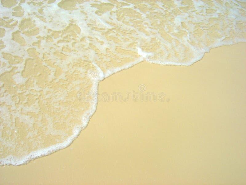 Onda que lava na praia de Whitehaven fotos de stock royalty free