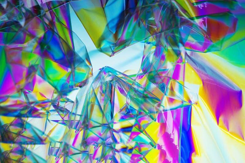 Onda retra del synth, fondo abstracto en los colores de neón, polarización cruzada Rosa plástico de los colores del concepto 2019 foto de archivo