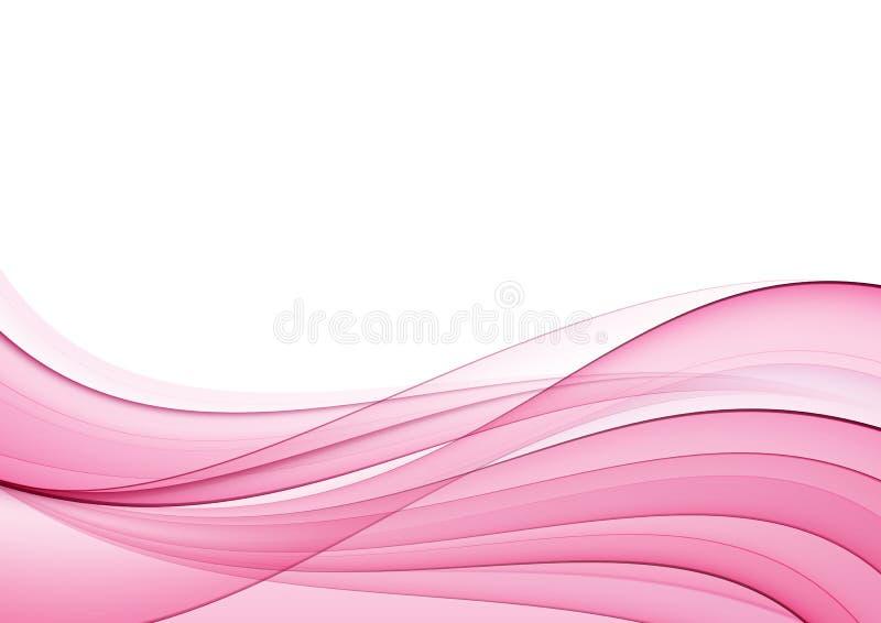 Onda rosada abstracta libre illustration