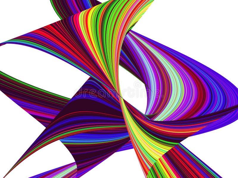 A onda roxa da cor listra o fundo abstrato ilustração stock