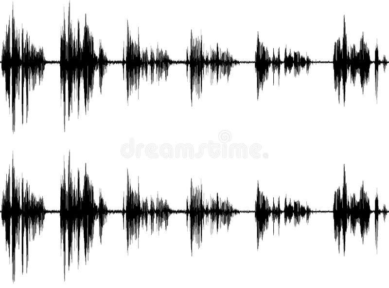 Onda sonora isolata su bianco illustrazione vettoriale