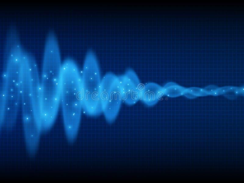 Onda sonora Priorità bassa di musica Flusso di energia Audio progettazione dell'onda Priorità bassa astratta di tecnologia illustrazione vettoriale