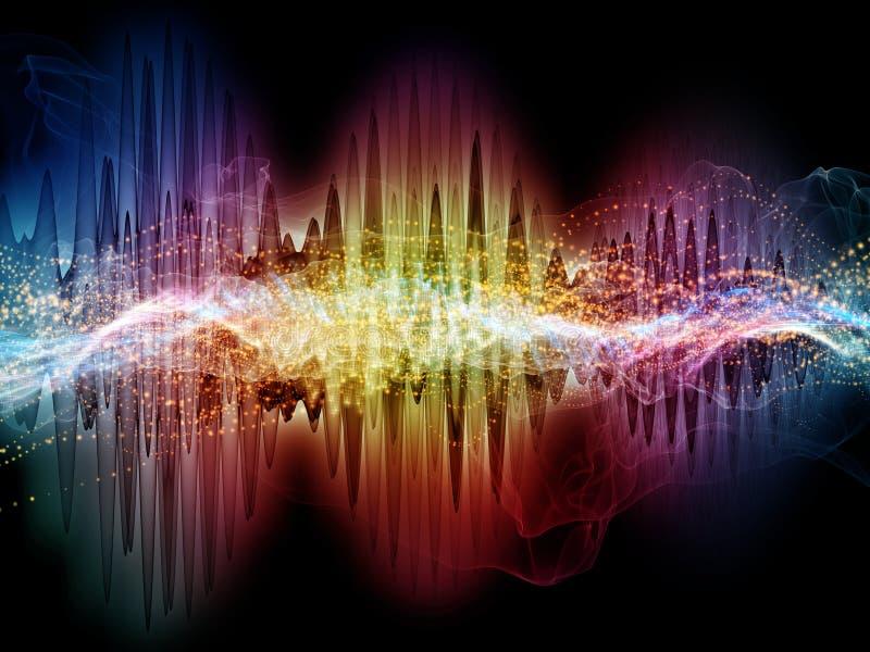 Onda sonora virtuale illustrazione vettoriale