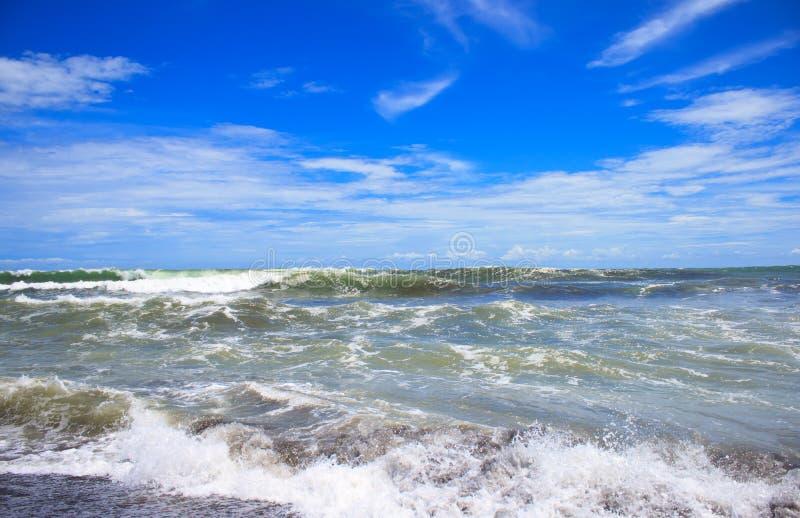 Onda sulla spiaggia fotografia stock