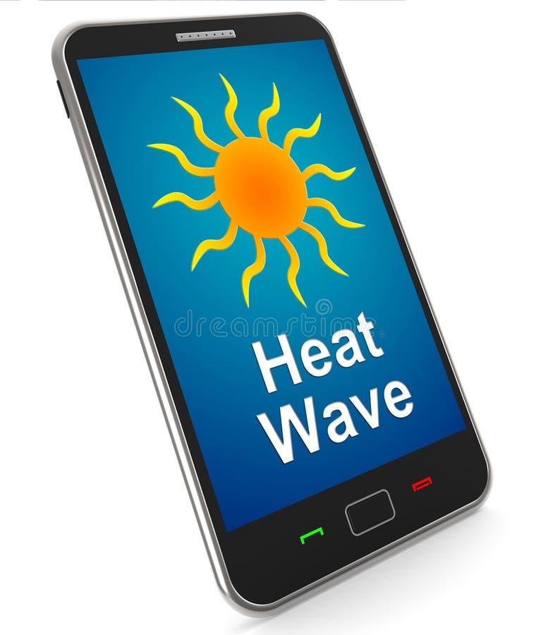 Onda termica sul cellulare significa il caldo illustrazione vettoriale