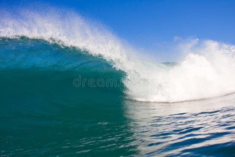 Onda tropical de ondulação, vista na câmara de ar fotos de stock royalty free