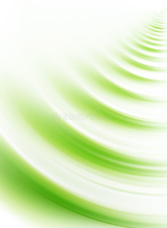 Onda verde ilustração stock
