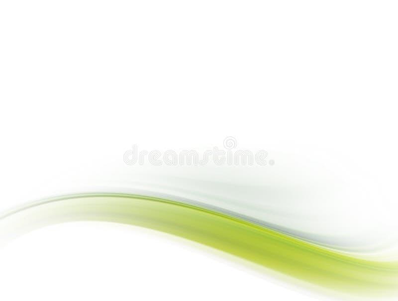 Onda verde ilustración del vector