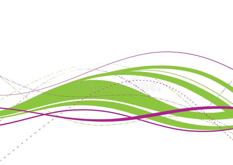 Onda verde abstrata ilustração do vetor