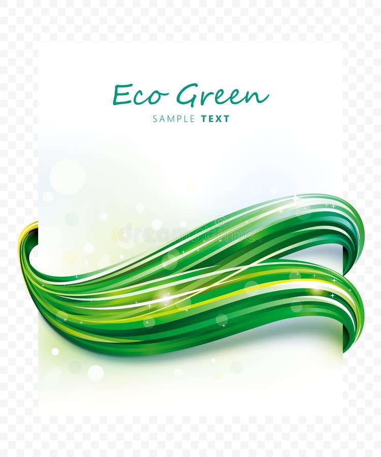 Onda verde de Eco ilustração stock