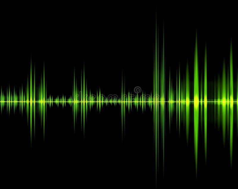 Onda verde del suono illustrazione di stock