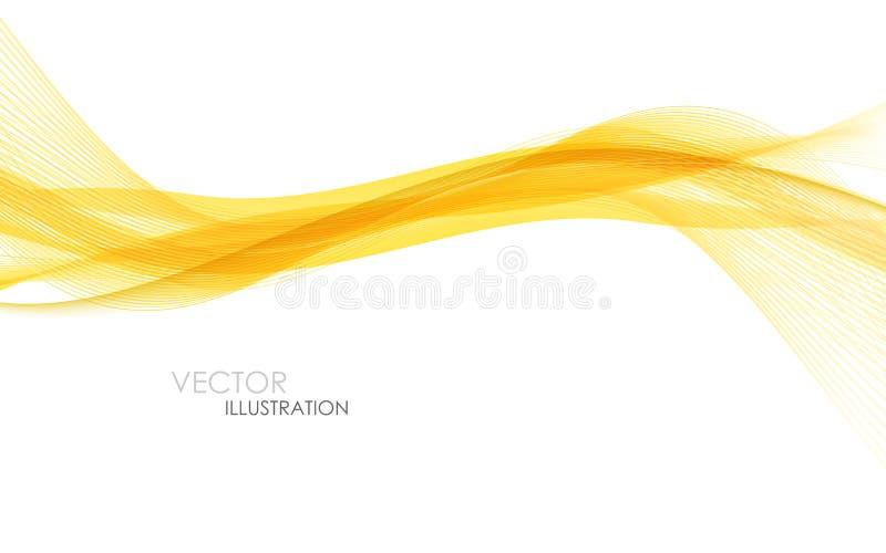 Ondas abstractas de la naranja - concepto de la secuencia de datos Ilustración del vector libre illustration