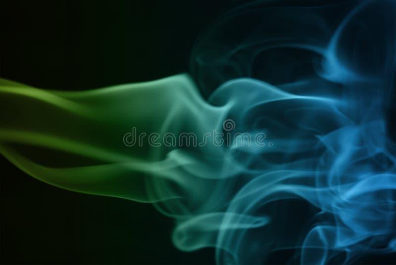 Ondas abstractas del humo fotografía de archivo libre de regalías