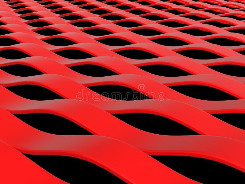 Ondas abstractas del rojo ilustración del vector