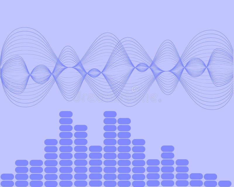 Ondas acústicas de la música stock de ilustración