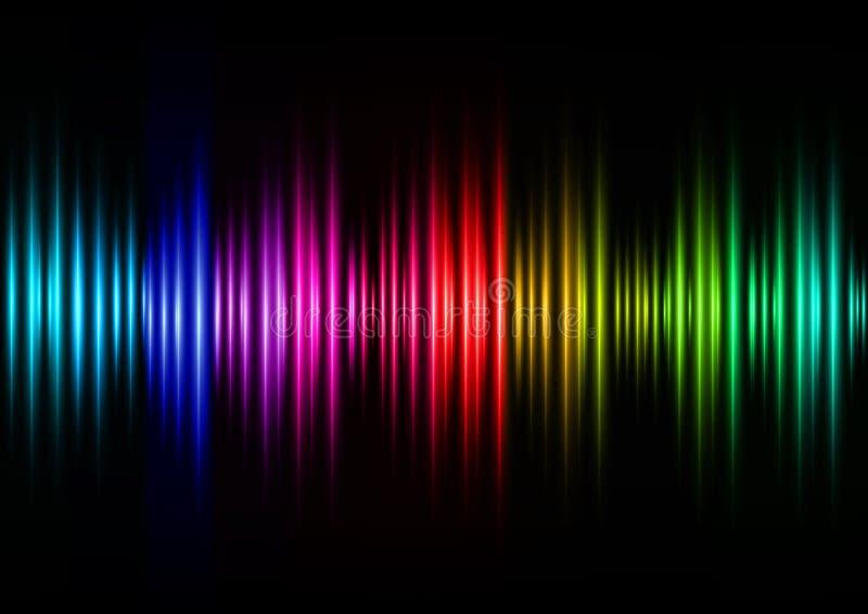 Ondas acústicas del color stock de ilustración