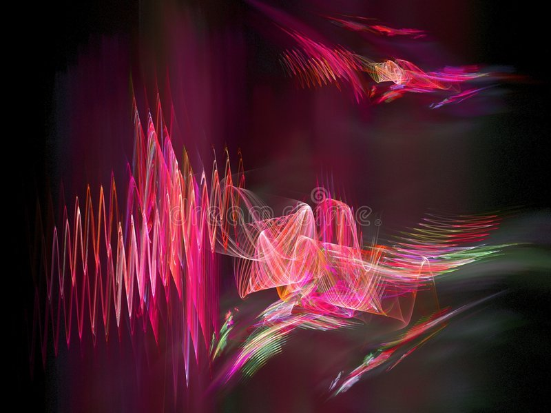 Ondas acústicas púrpuras ilustración del vector