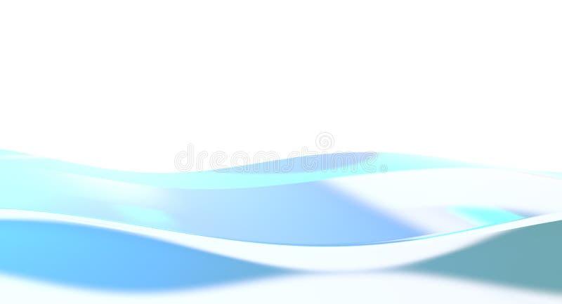 Ondas azuis ilustração stock