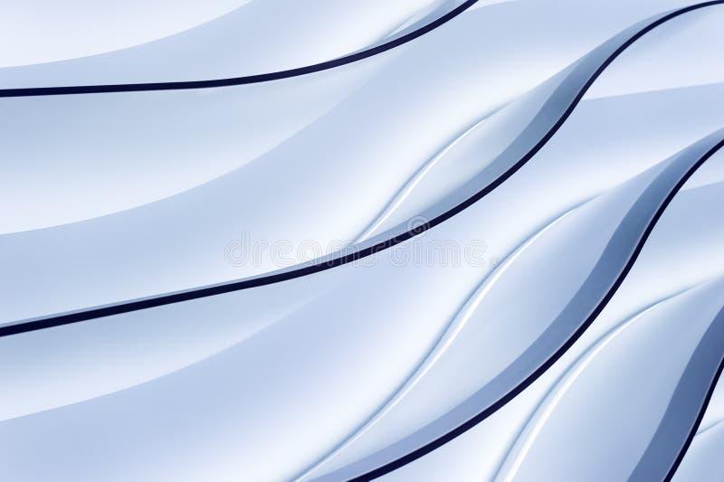 Ondas azuis do inclinação ilustração do vetor