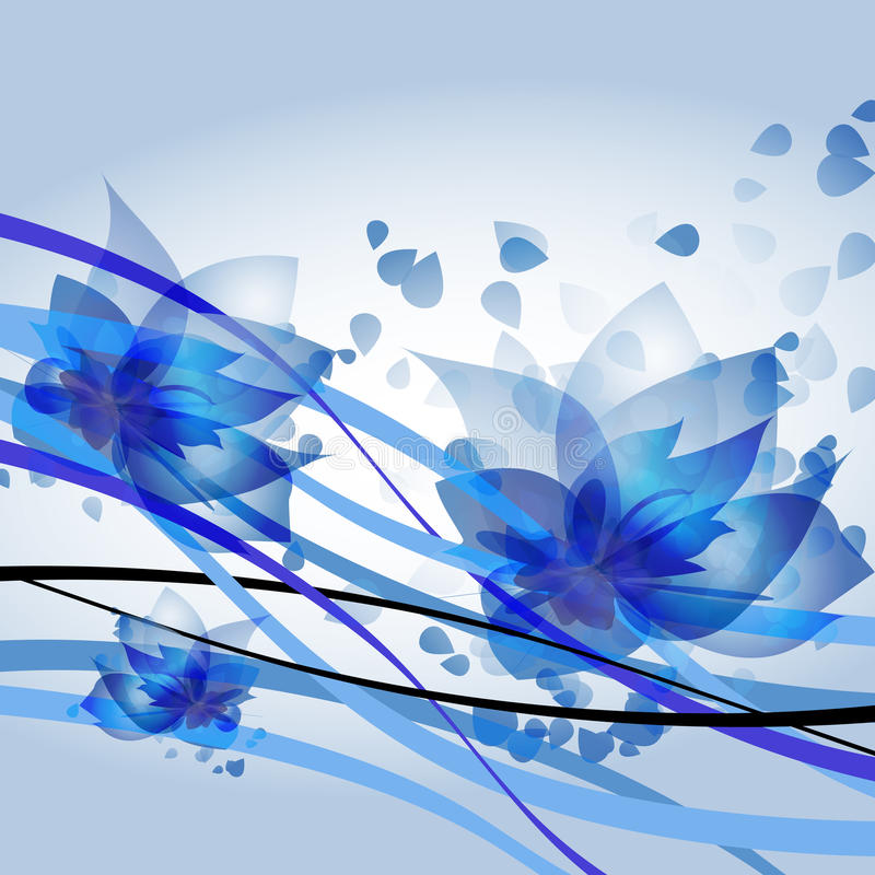 Ondas azules libre illustration