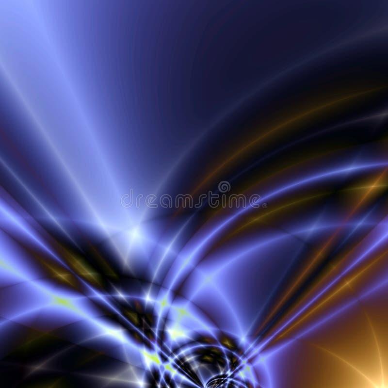 Ondas coloreadas ilustración del vector