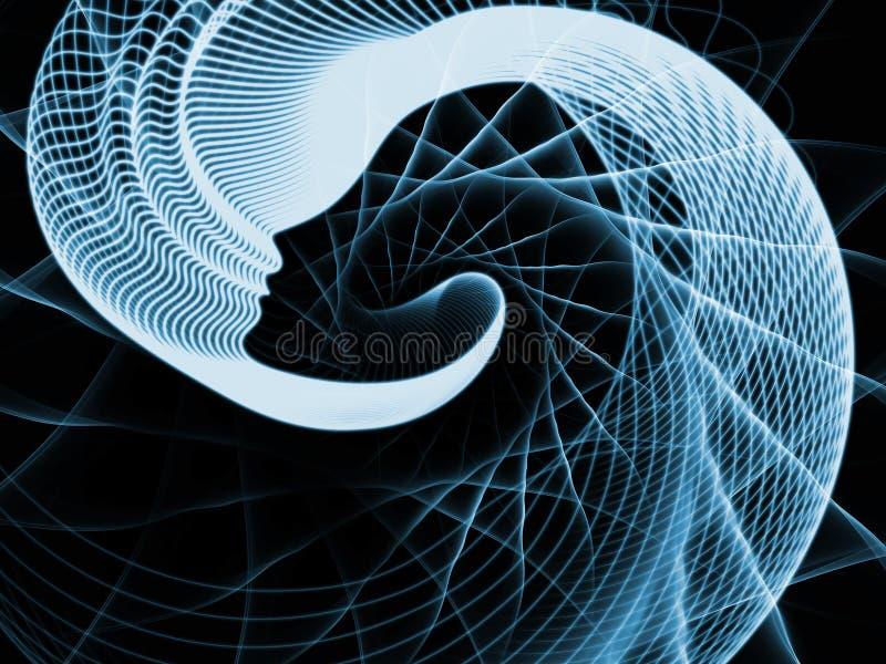 Ondas da alma e da mente ilustração do vetor