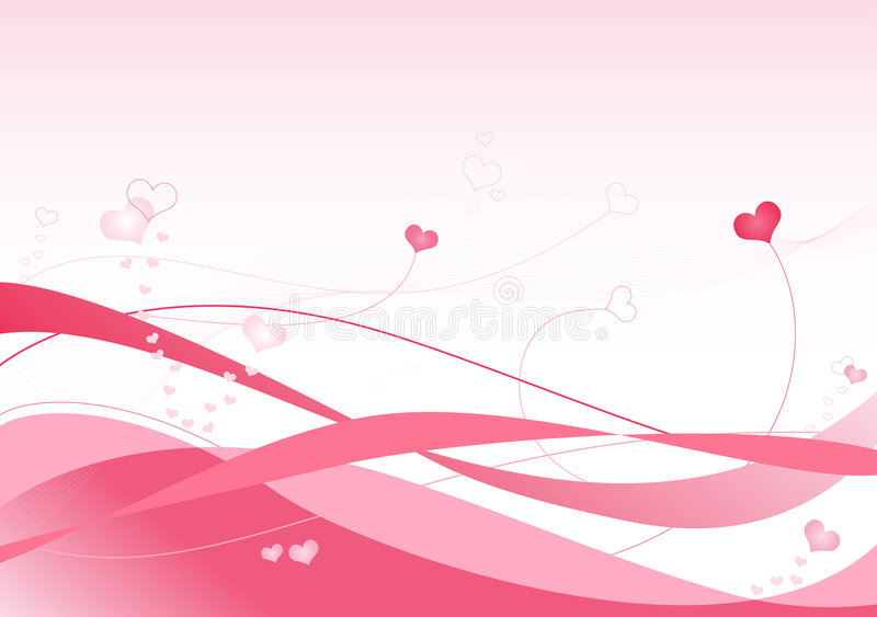Ondas da cor-de-rosa