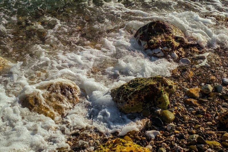 Ondas da costa de mar imagem de stock