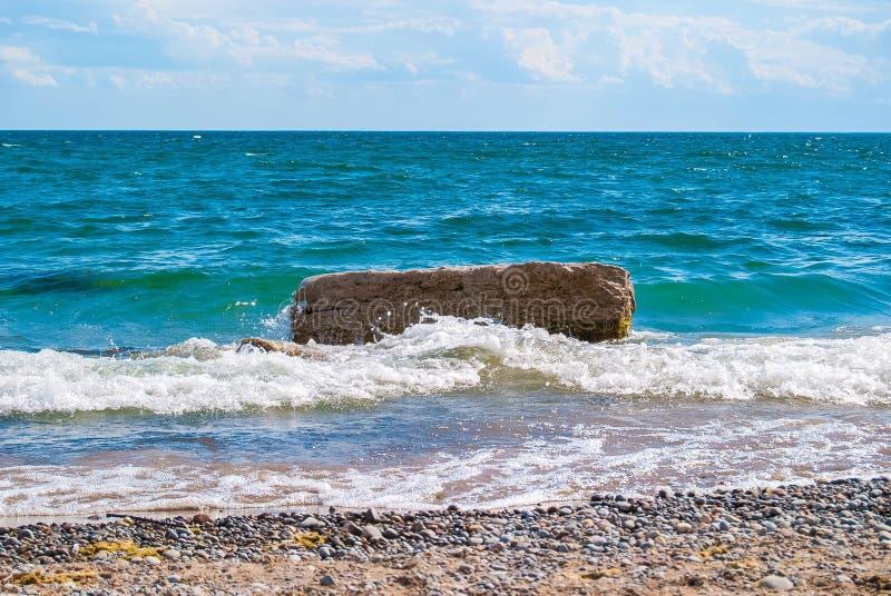 Ondas da praia fotografia de stock