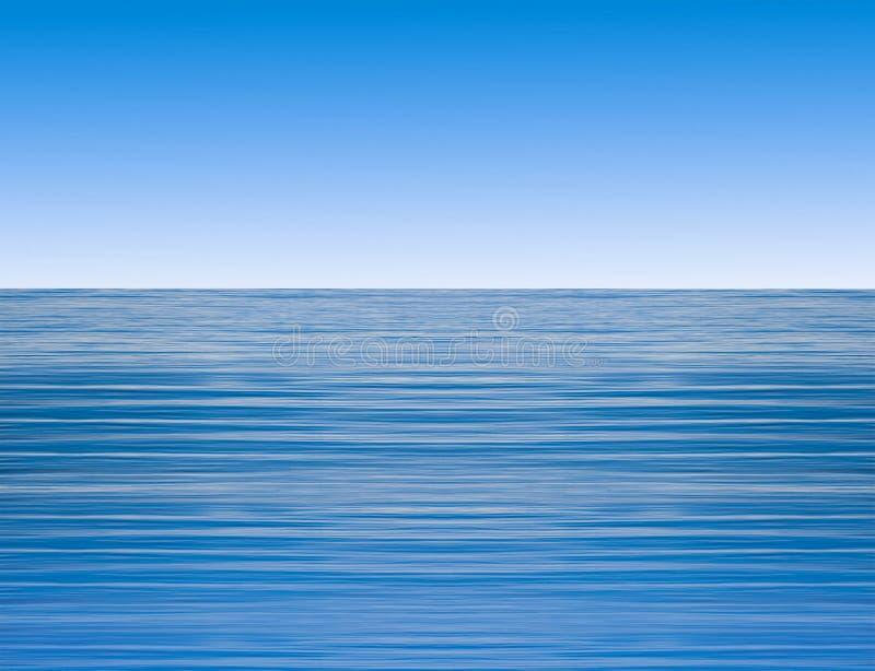Ondas de água calmas do oceano ilustração do vetor