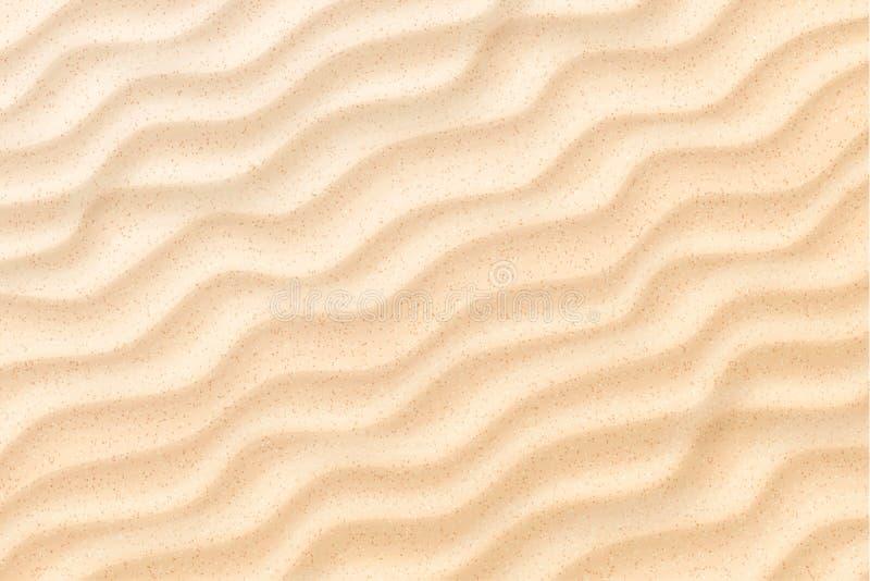 Ondas de areia litorais da praia do vetor, fundo das dunas ilustração do vetor