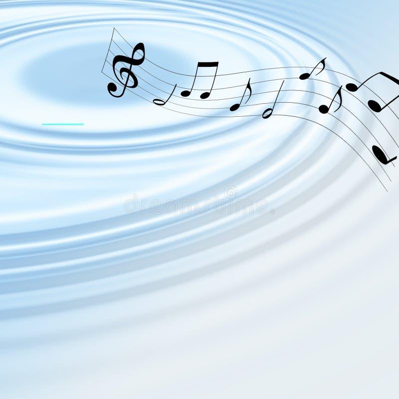 Ondas de la música stock de ilustración