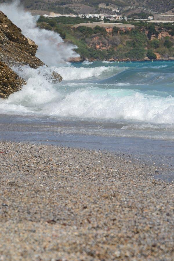 Ondas de la playa foto de archivo libre de regalías