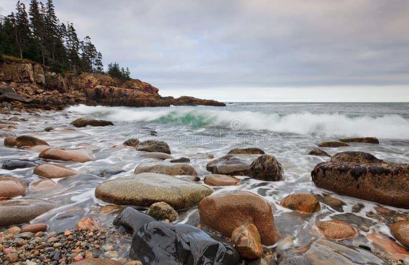 Ondas de océano en punta de la nutria imagenes de archivo
