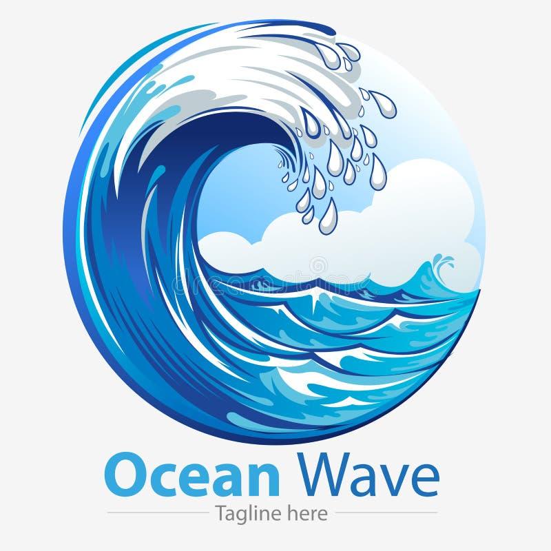 Ondas de oceano ilustração royalty free