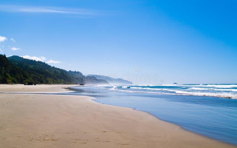 Ondas de oceano na costa fotos de stock