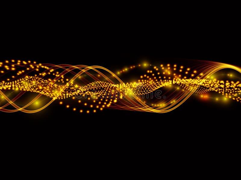 Ondas de seno de luces stock de ilustración