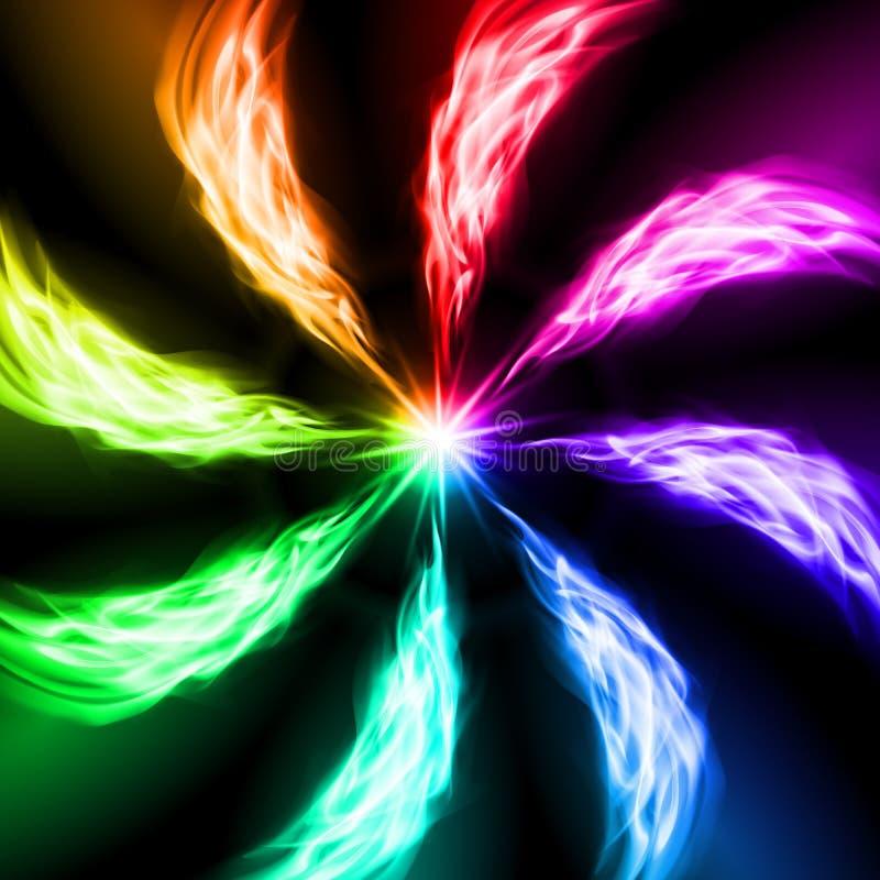 Ondas do fogo do espectro. ilustração do vetor