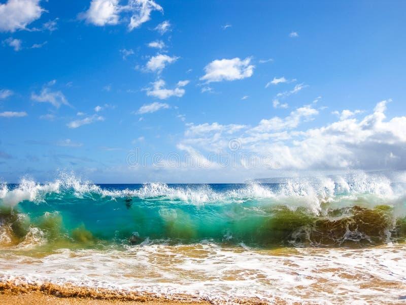 Ondas do oceano, Maui, Havaí fotografia de stock royalty free
