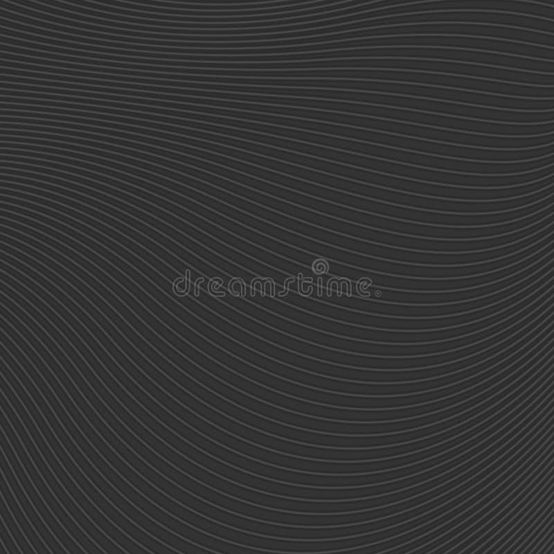 Ondas do preto e linhas abstratas teste padrão ilustração do vetor