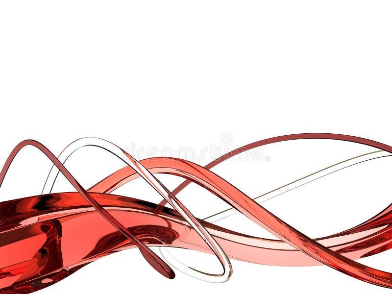 Ondas do vermelho ilustração royalty free
