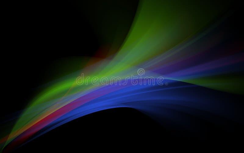Ondas espectrales stock de ilustración
