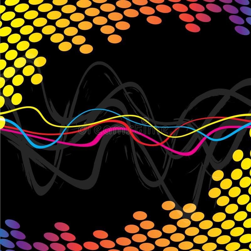 Ondas frescas del audio stock de ilustración
