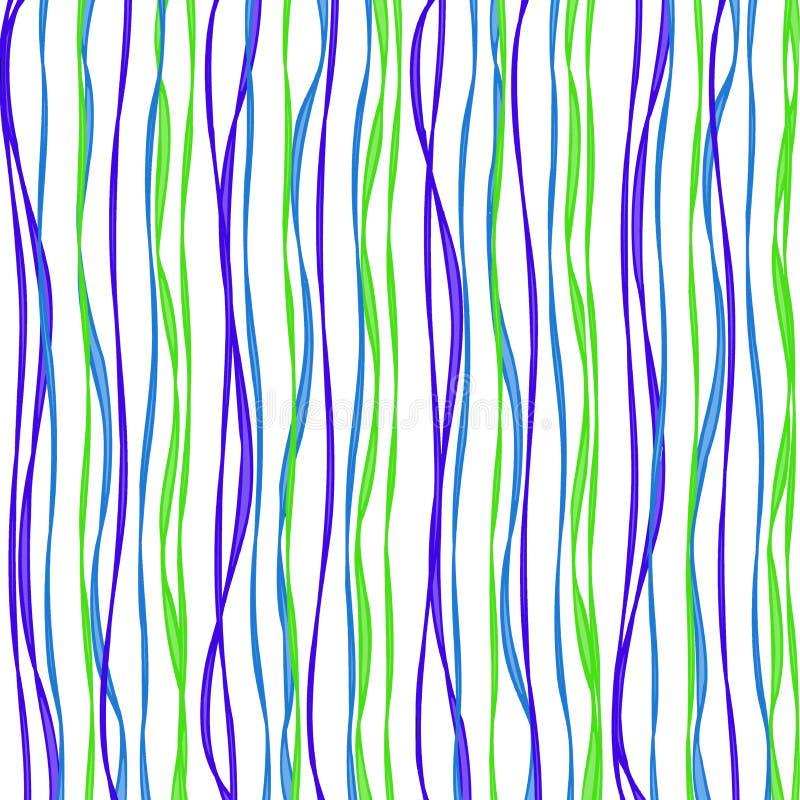 Ondas frescas del azul y de la cal ilustración del vector