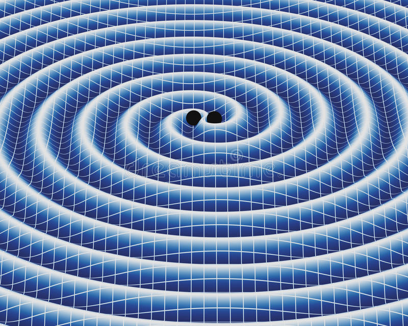 Ondas gravitacionais ilustração do vetor