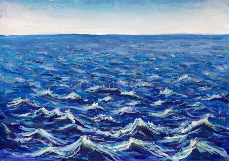 Ondas hermosas del mar Onda abstracta de la turquesa Fondo marina fotografía de archivo libre de regalías