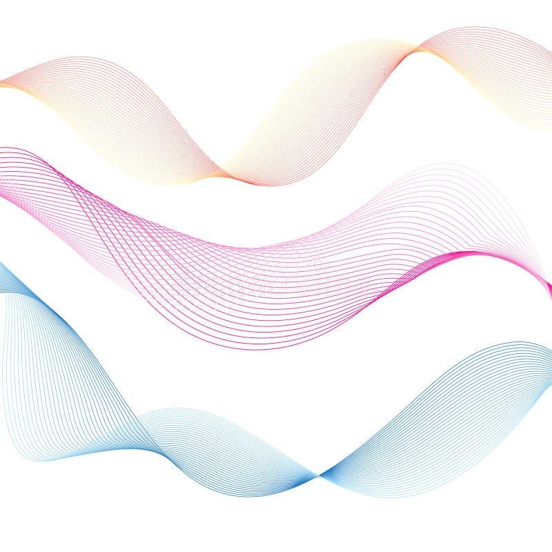 Ondas ligeras del extracto gráfico del vector stock de ilustración