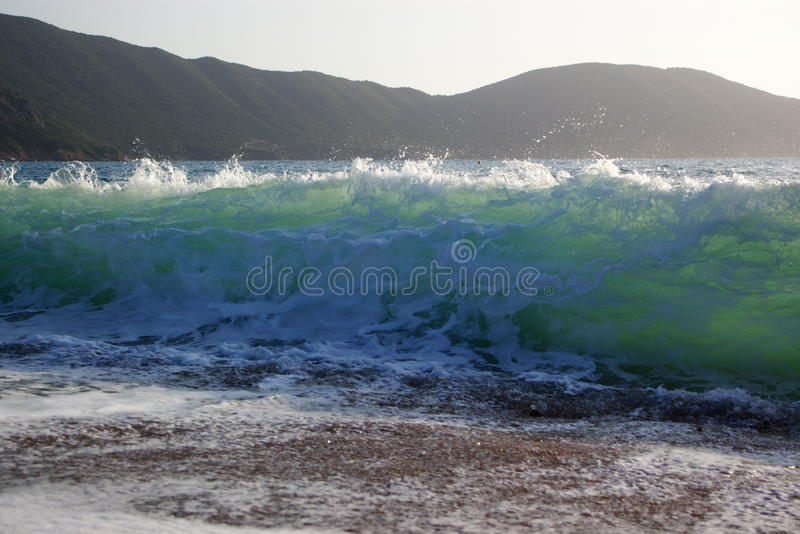 Ondas na praia fotos de stock royalty free